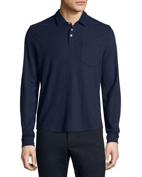 ATM Anthony Thomas Melillo Long-Sleeve Polo Shirt, Navy