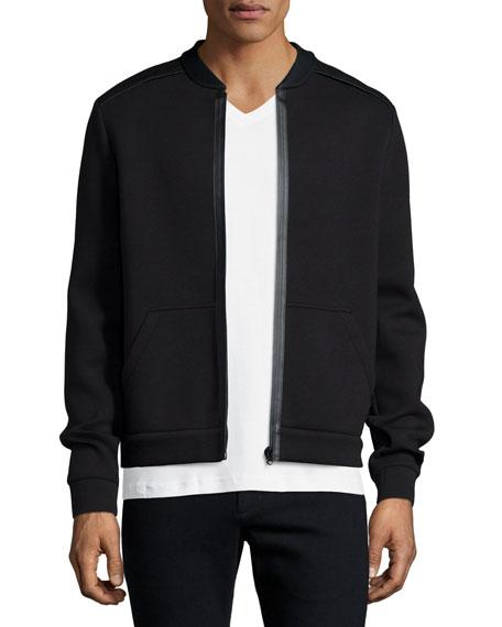 ATM Bonded Cotton-Blend Zip-Up Jacket, Black