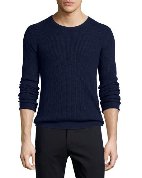 ATM Anthony Thomas Melillo Waffle-Stitch Knit Crewneck Sweater,