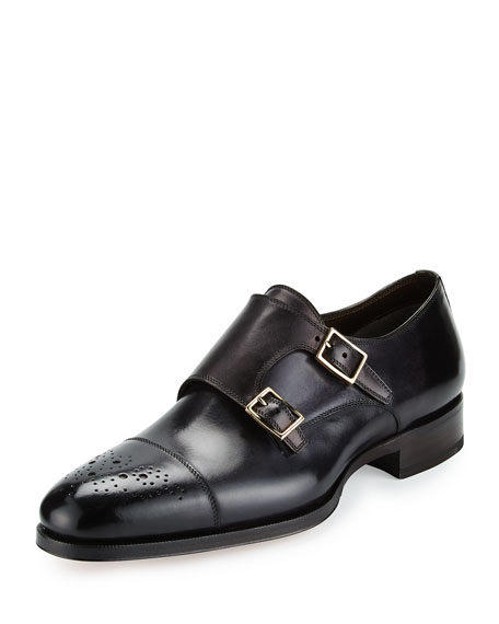 Tom Ford Double-Monk calfskin