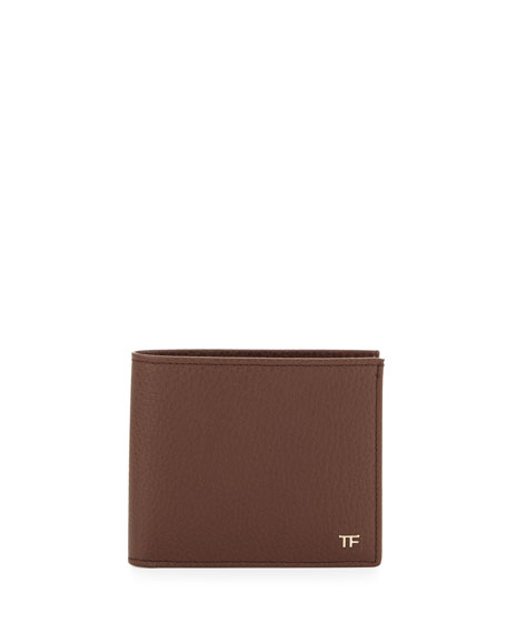 TOM FORD Calfskin Bifold Wallet, Brown
