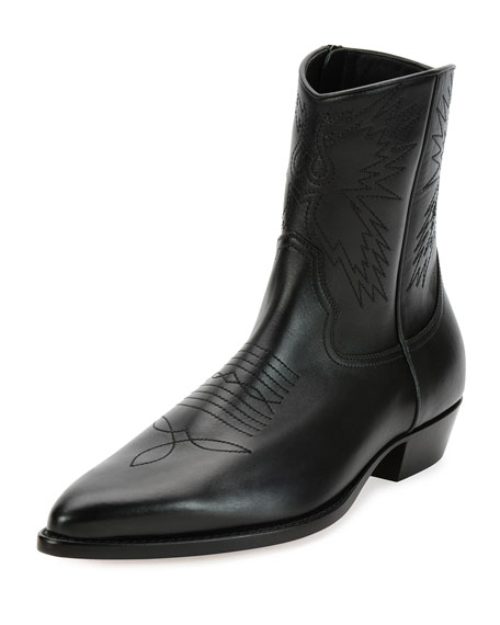 Valentino Leather Cowboy Boots WEDV2FICT