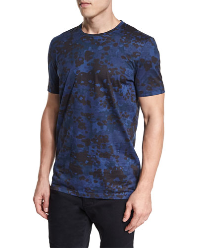 Camo-Print Short-Sleeve Tee, Navy