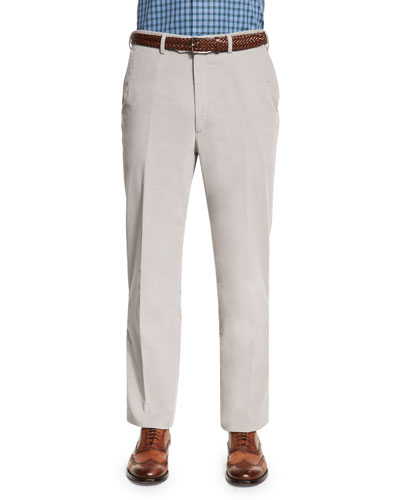 Pinwale Corduroy Trousers, Gray