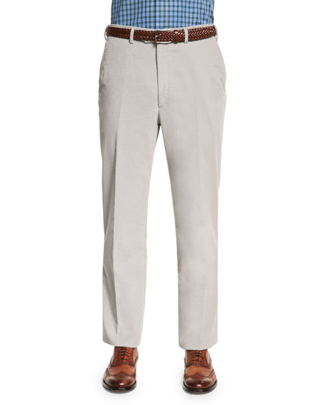 Brioni Pinwale Corduroy Trousers, Gray