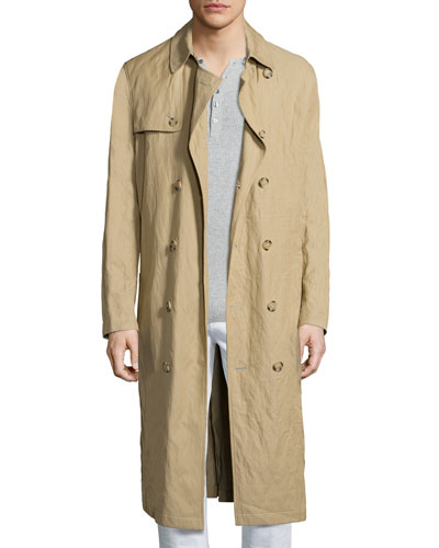 Inox Lightweight Trench Coat, Khaki