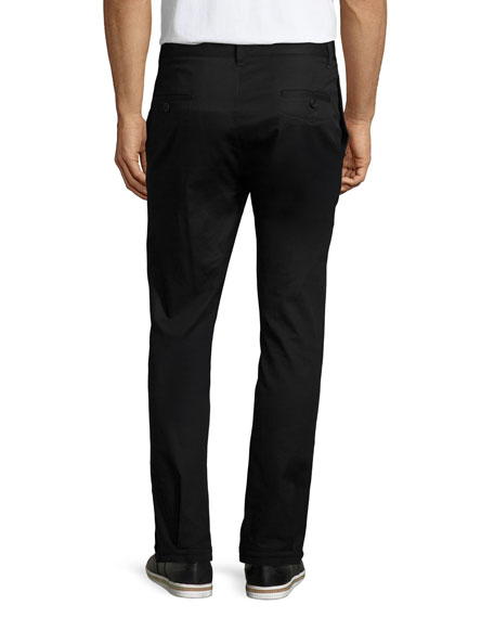 Helmut Lang Flap-Pocket Straight-Leg Trouser Pants, Black