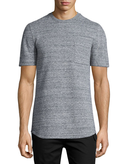 Helmut Lang Melange Short-Sleeve Crewneck Tee & Flap-Pocket
