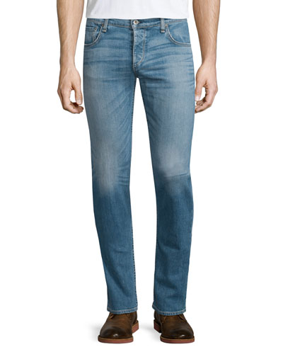 Standard Issue 2 Light-Wash Denim Jeans, Dark Blue