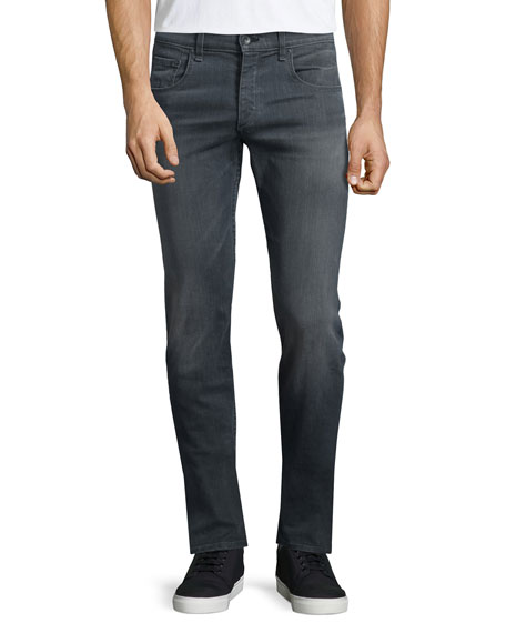 Rag & Bone Standard-Fit Washed Denim Jeans, Gray