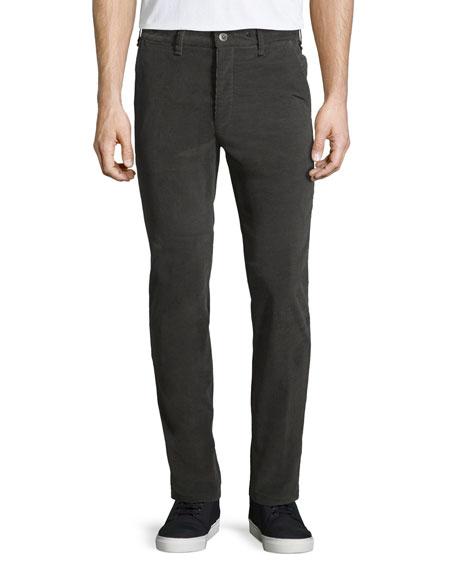 Rag & Bone Race Drainpipe Stretch Trousers, Gray