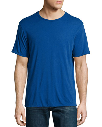 Mazarine Reversible Short-Sleeve Jersey Tee, Blue