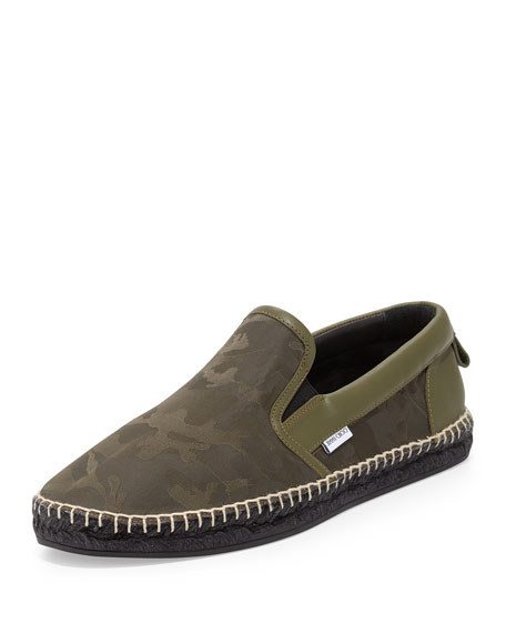 Jimmy Choo Vlad Men's Camo-Print Espadrille Slip-On Sneaker,