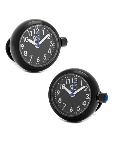 Cufflinks Inc. Watch Movement Cuff Links, Black