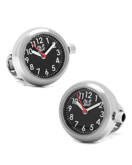 Watch Movement Cuff Links, Steel