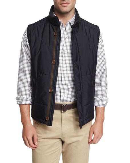 Peter Millar Milano Quilted Button/Zip Vest, Navy : peter millar quilted vest - Adamdwight.com