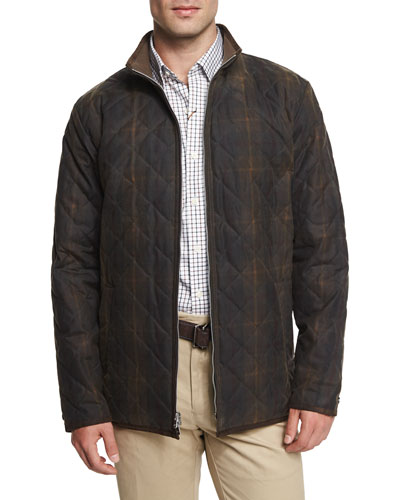Chesapeake Quilted Cotton Jacket, Olive