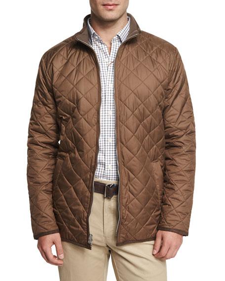 Peter Millar Chesapeake Lightweight Quilted Jacket, Dark Brown