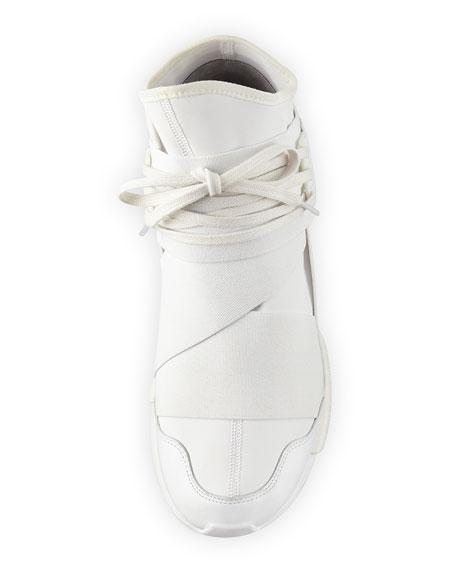 Qasa High-Top Trainer Sneaker, White