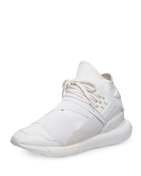 Y-3 Qasa High-Top Trainer Sneaker, White