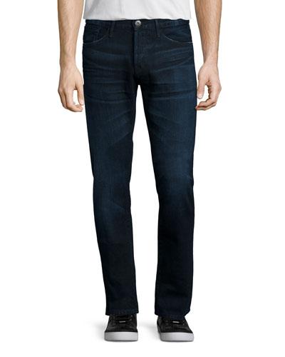 M3 Slim-Straight Lunar Clean Denim Jeans, Navy