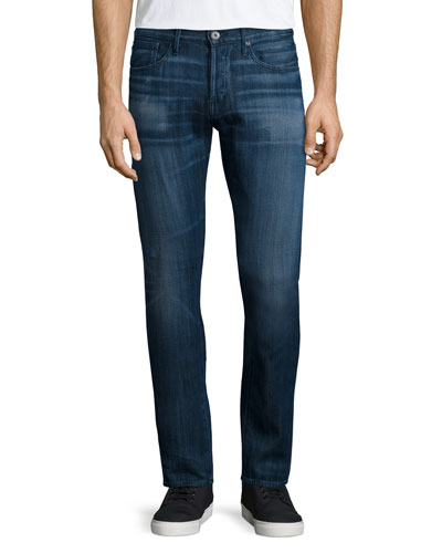 M3 Element Slim-Straight Denim Jeans, Blue Gray