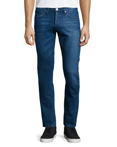 M3 Gamma Slim-Straight Denim Jeans, Blue