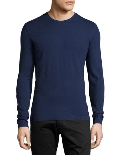 Brettos Bilen Crewneck Sweater, Navy