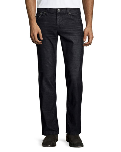 Ricky Straight-Leg Corduroy Pants, Black