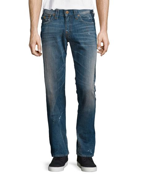 True Religion Geno Painted Alley Denim Jeans, Blue