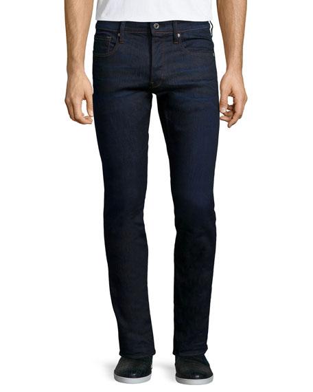 G-Star 3301 Tapered Visor Stretch Jeans, Dark Blue