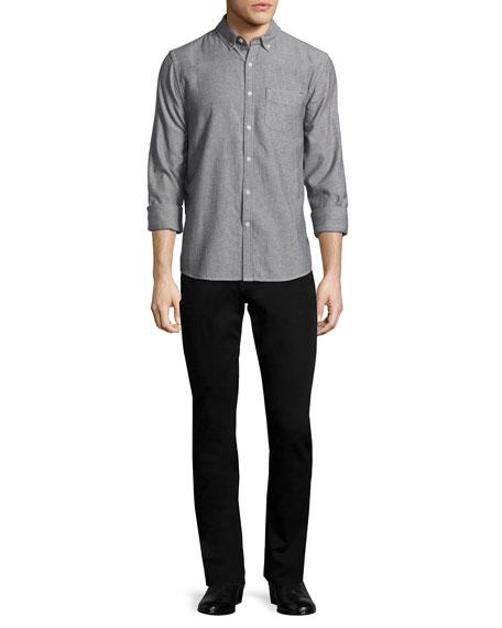 Slim-Fit Enok Tonal Denim Jeans, Black
