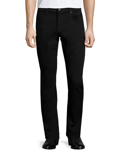 Slim-Fit Enok Tonal Denim Jeans, Black
