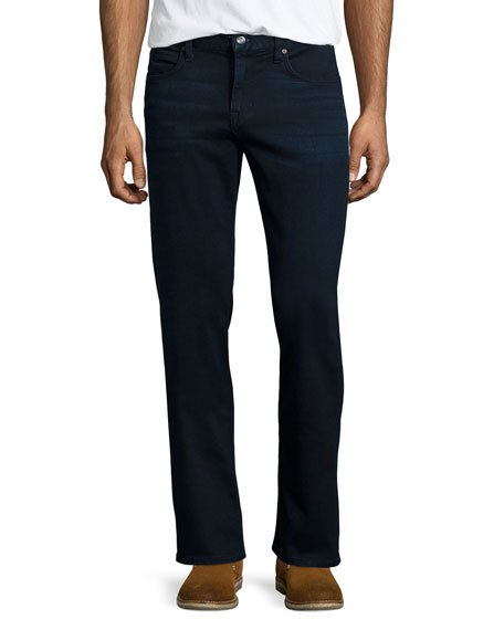 Classic Ledger Straight-Fit Jeans, Navy