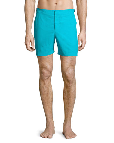 Bulldog Solid Swim Trunks, Blue
