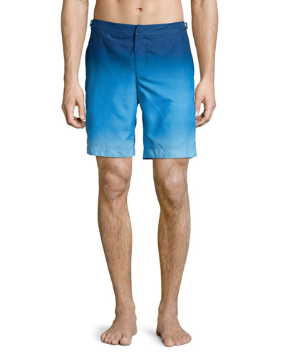 Dane Ombre Swim Trunks, Light Blue