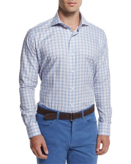 Peter Millar Check Long-Sleeve Sport Shirt & Five-Pocket