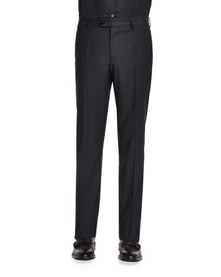Etro Mini Jacquard Evening Trousers, Black