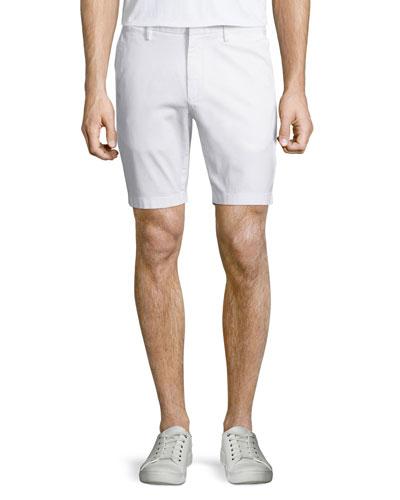 Stretch-Twill Shorts, White