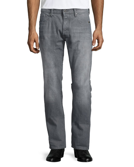 G-Star Stean Tapered-leg Accel Stretch Denim Jeans, Gray