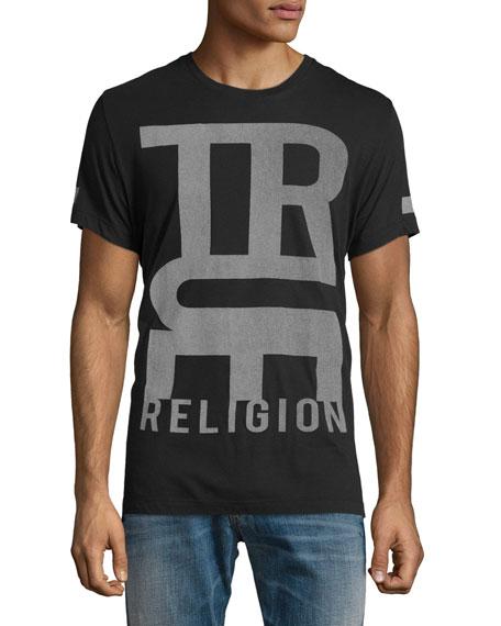 True Religion Logo-Graphic Short-Sleeve T-Shirt, Black