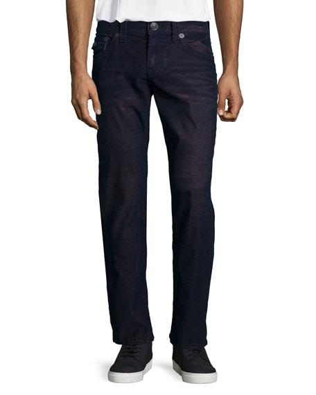 True Religion Geno Ace Straight-Leg Jeans, Purple