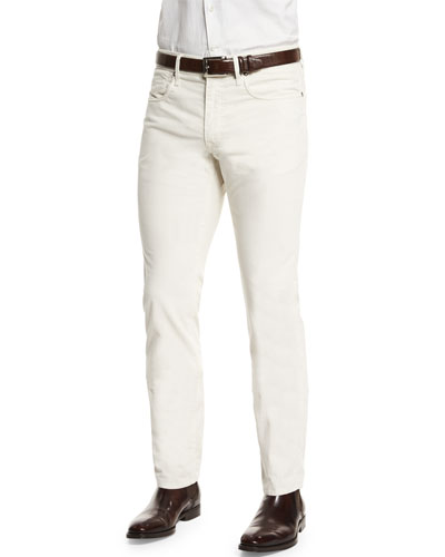 Ray Washed Moleskin Pants, White