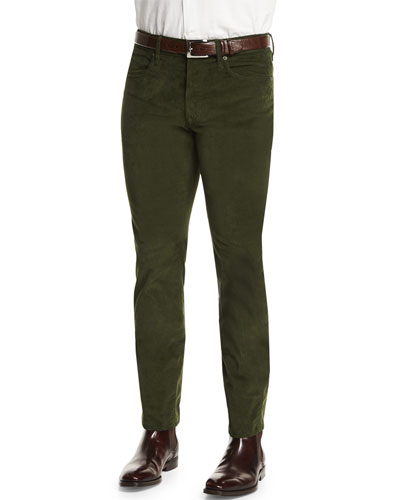 Ray Washed Moleskin Pants, Olive