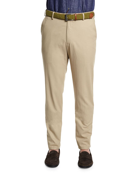 Peter MillarRaleigh Washed Twill Pants, Khaki