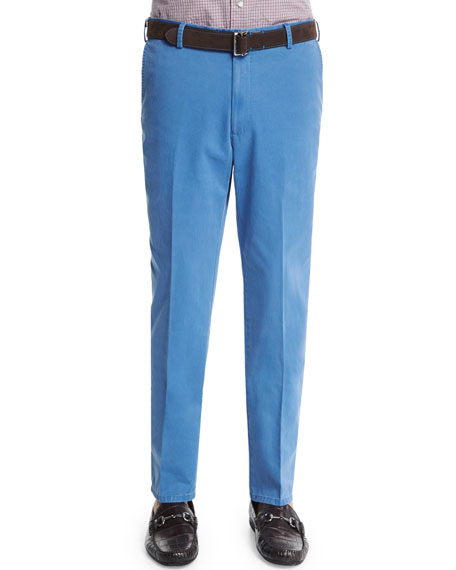 Peter Millar Raleigh Washed Twill Pants, Blue