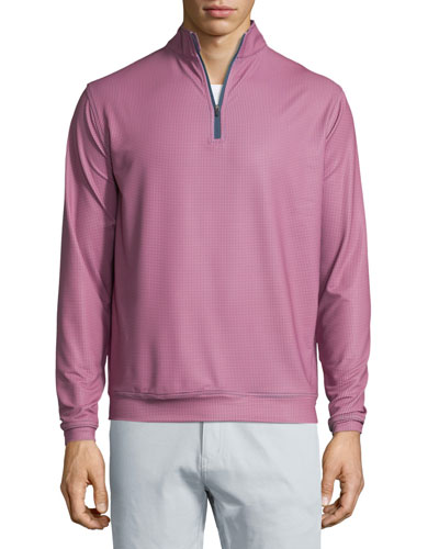 Perth E4 Performance Houndstooth Quarter-Zip Pullover, Midnight