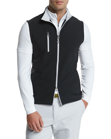 Peter Millar Seville Performance Windblock Vest, Black