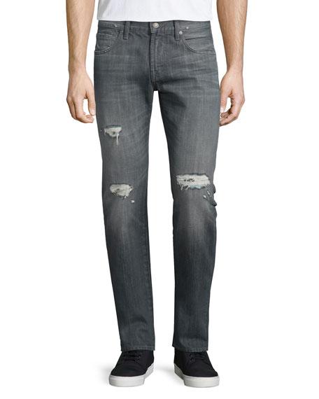 Paxtyn Destroyed Denim Jeans, Axim