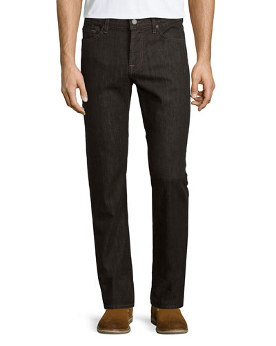 Slimmy Cashmere-Blend Denim Jeans, Brown